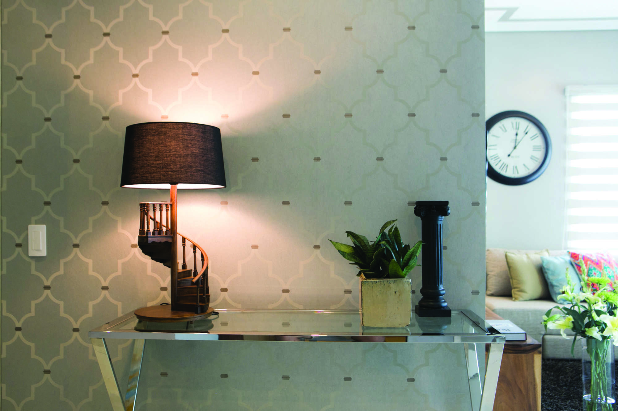 Dual Heads Floor Standing Lamp With Shade Adjustable MS-62084 For Living Ro