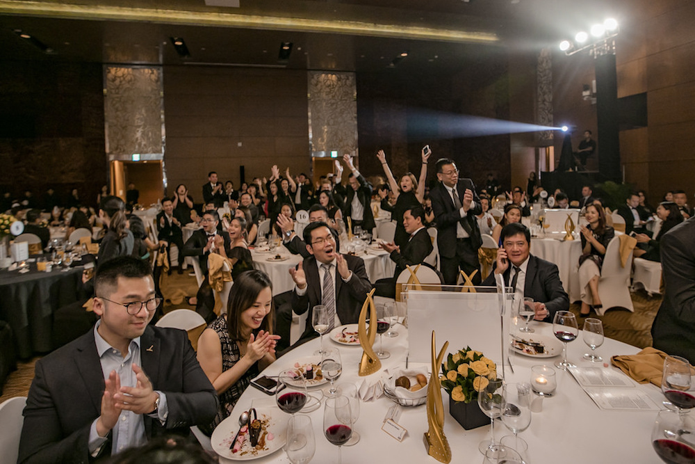 CapitaLand Vietnam's table roars as the company's second consecutive Best Developer award is announced