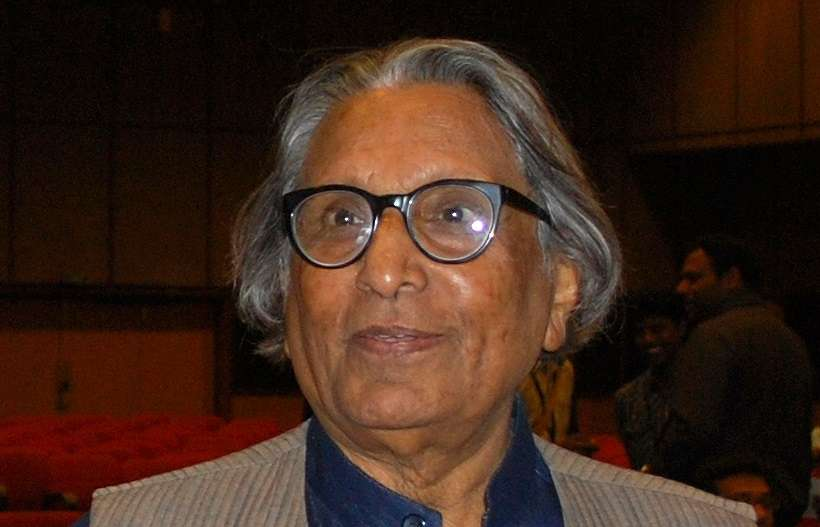 Balkrishna Doshi at a convention in Chennai in 2013. Sanyam Bahga/Wikimedia Commons