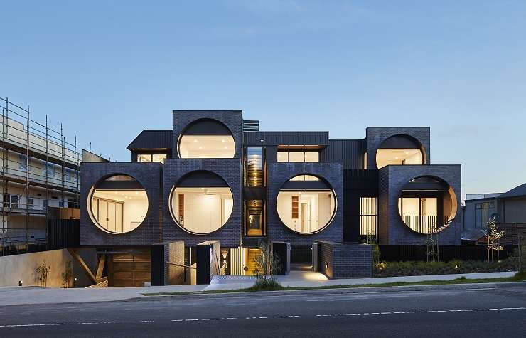 The Cirqua Apartments in Ivanhoe, East Victoria. Image credit: Peter Bennetts