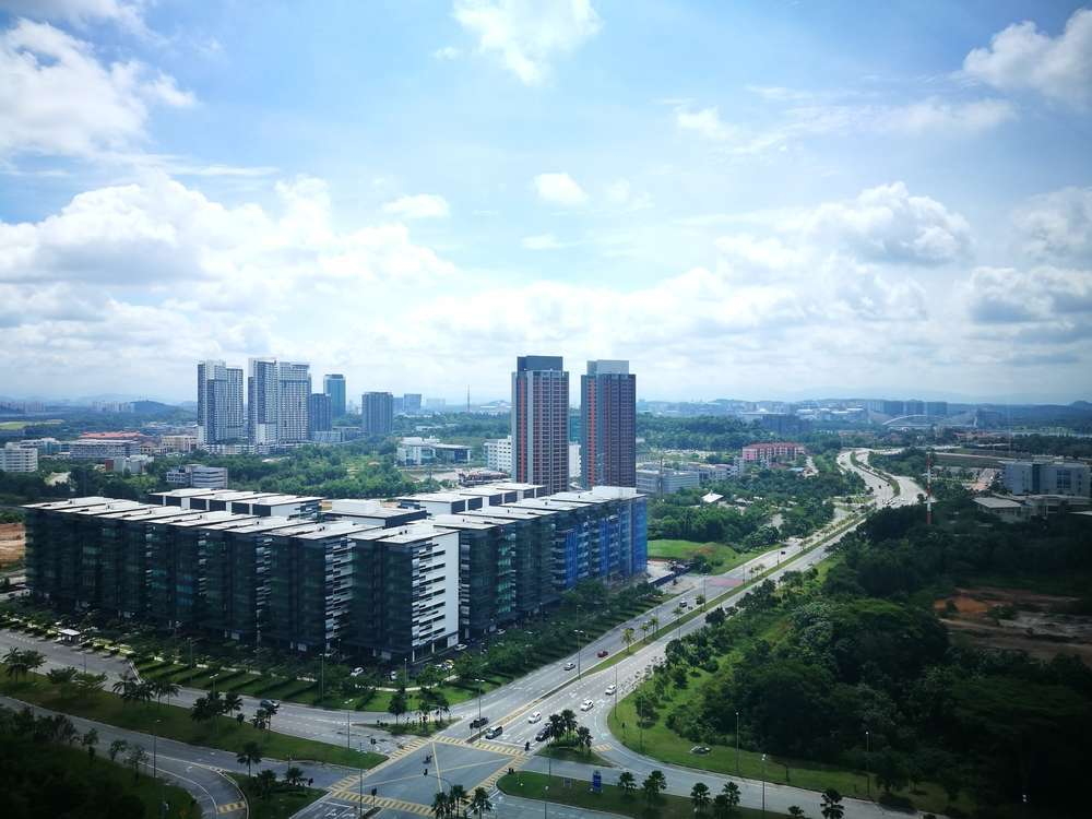 An aerial view of Cyberjaya city in Malaysia. ashadhodhomei/Shutterstock