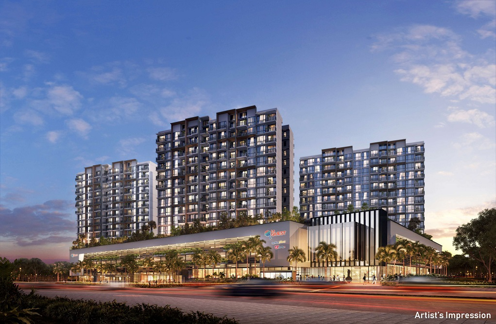 A view of Le Quest, winner of Best Mixed Use Development at the PropertyGuru Asia Property Awards (Singapore) 2018