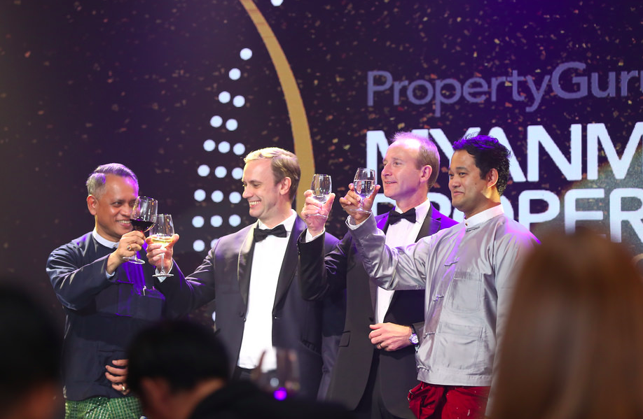 File photo: Welcome toast for the third annual gala dinner of the PropertyGuru Myanmar Property Awards held on 30 June 2017