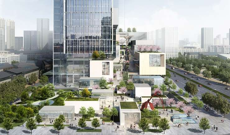 Vertical communities such as OXIC in China's Xi'an 'create synergy between different uses and foster dynamic neighbourhoods'