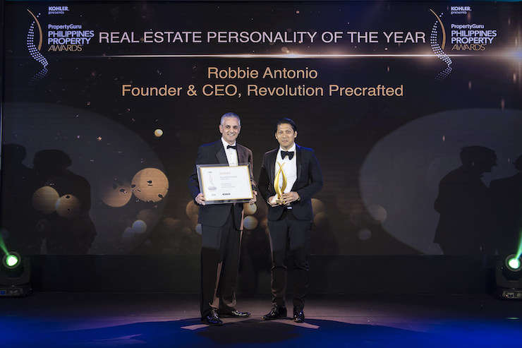 2018 Philippines Real Estate Personality of the Year, Robbie Antonio of Revolution Precrafted, was introduced by PropertyGuru COO Jeremy Williams