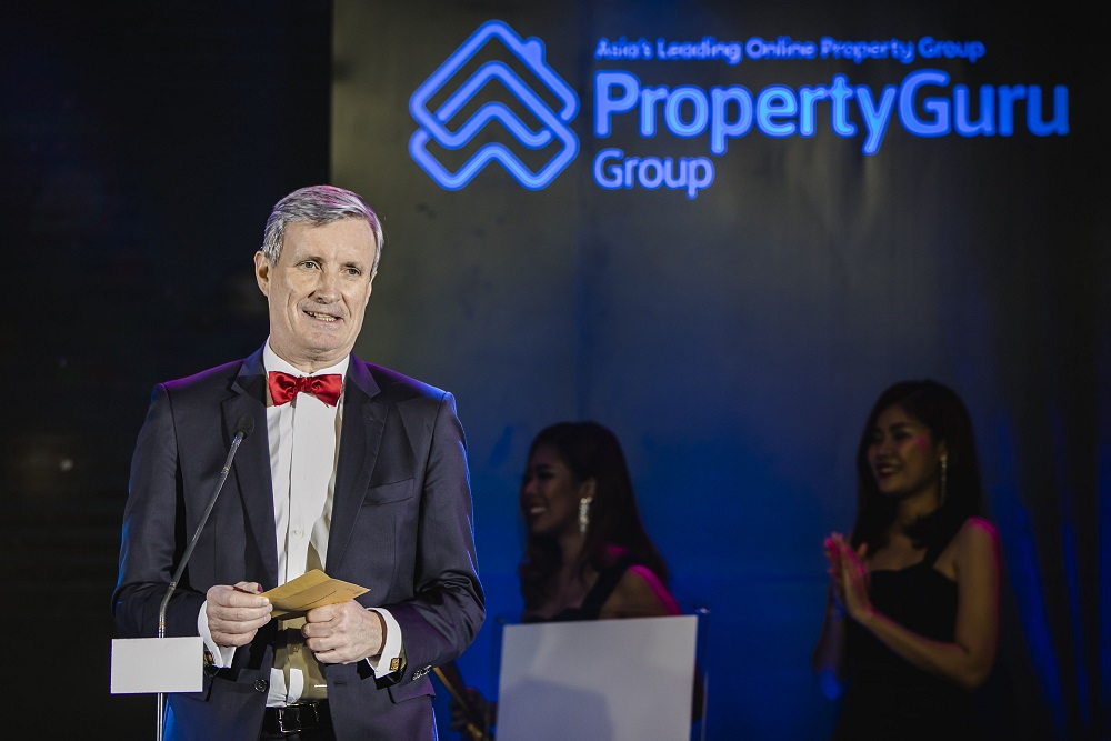 Christophe Vicic, JLL Philippines' Country Head, presenting at last year's awards