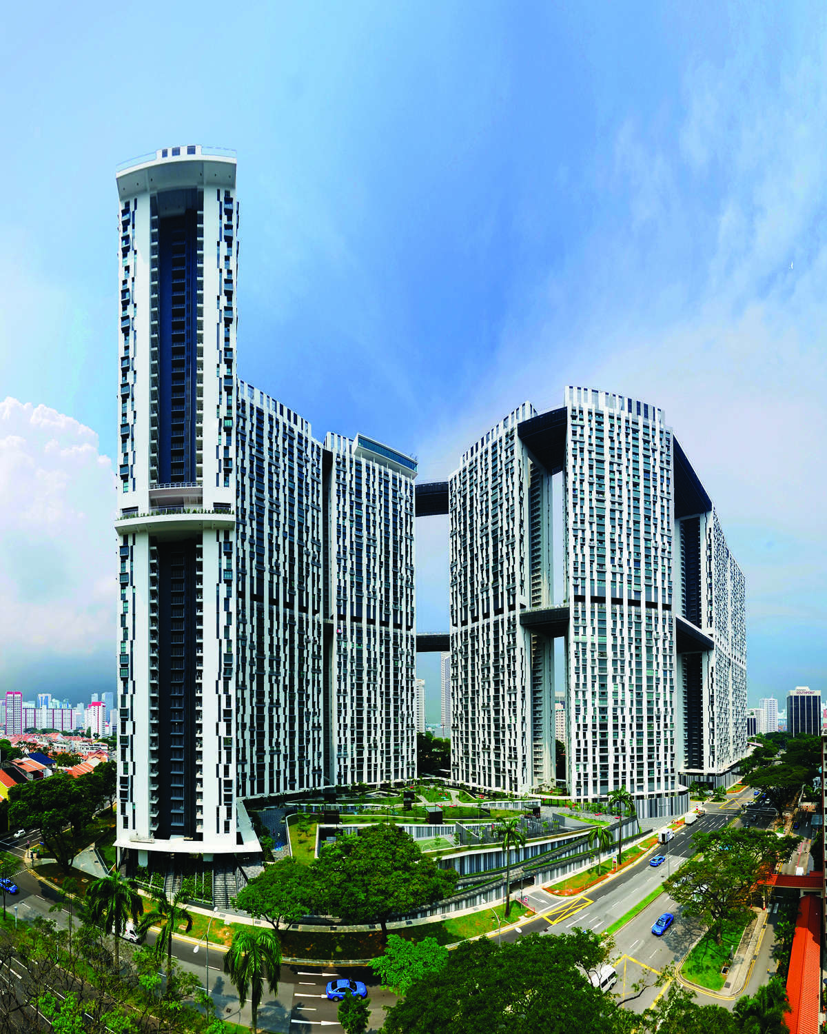 The Pinnacle@Duxton is one of Singapore's most striking architectural landmarks and represents a major innovation in public housing in the country