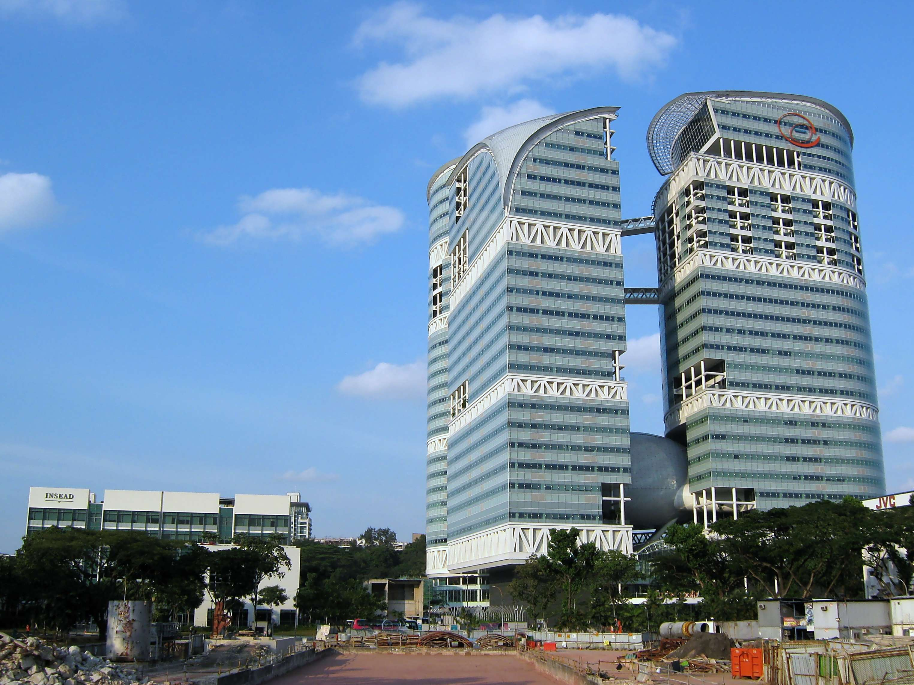 The Fusionopolis building at One North in Buona Vista, Singapore. Kok Leng Yeo/Wikimedia Commons