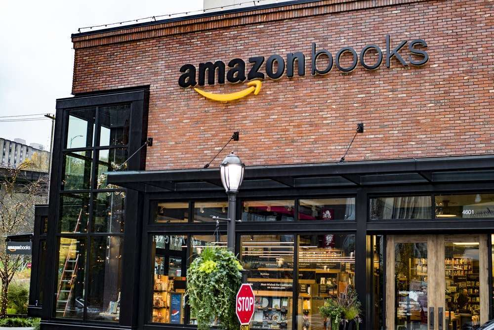Amazon opened its first brick-and-mortar bookstore called Amazon Books in Seattle's University Village in 2015. SEASTOCK/Shutterstock