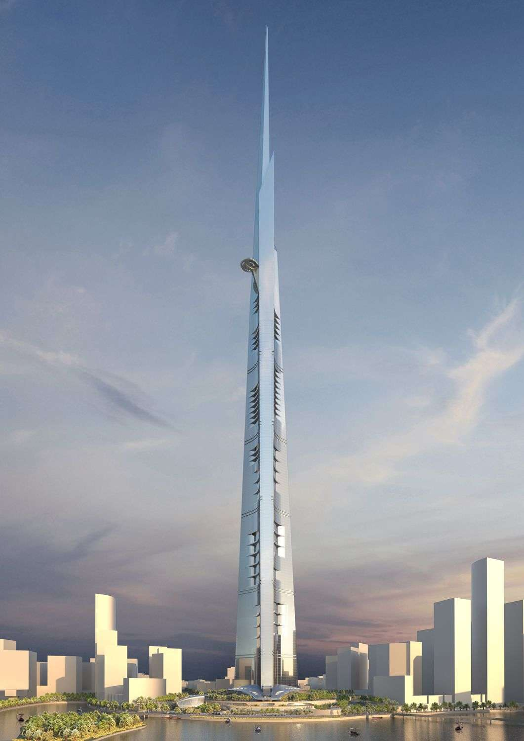 The Jeddah Tower will jut 1,000 metres into the sky, 72 metres higher than the current tallest structure on earth, the Burj Khalifa. Image credit: AS+GG