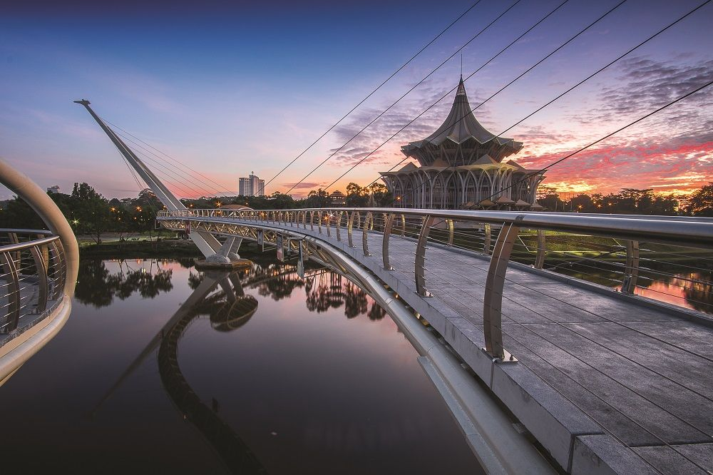 Kuching, capital of Sarawak, one of several key states in this year's general elections