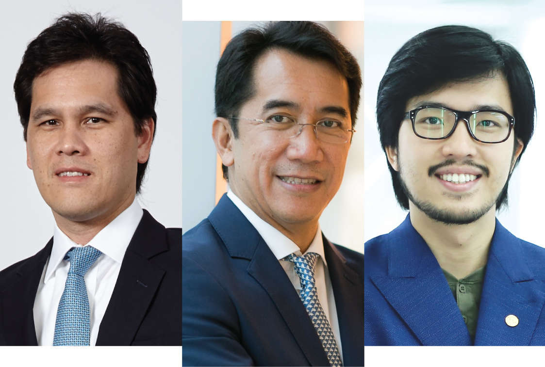 (L-R) Micah Tamthai, vice president of real estate, Minor International; Jonathan Umali, director, asset management at Arch Capital Management; and Nicholas Ho, deputy managing director of hpa (Ho & Partners Architects)