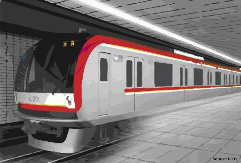 Render of the Metro Manila Subway