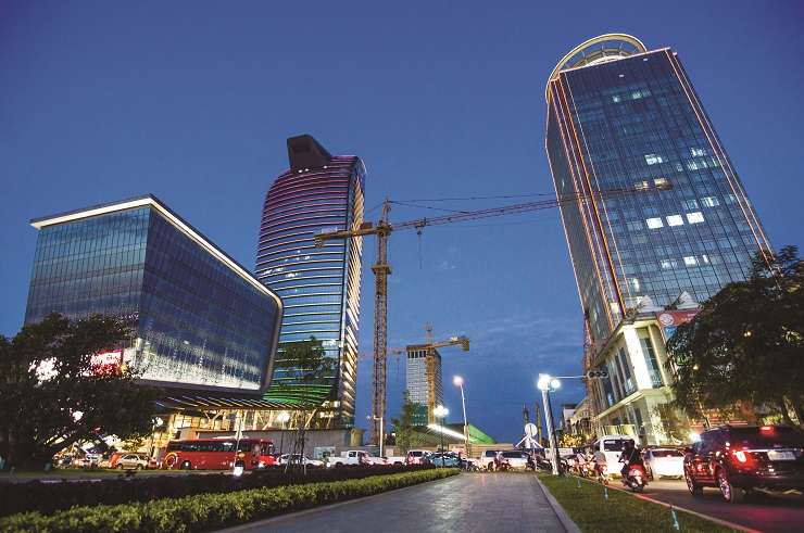 Once a predominantly low-rise city, Phnom Penh is now studded with ambitious skyscrapers