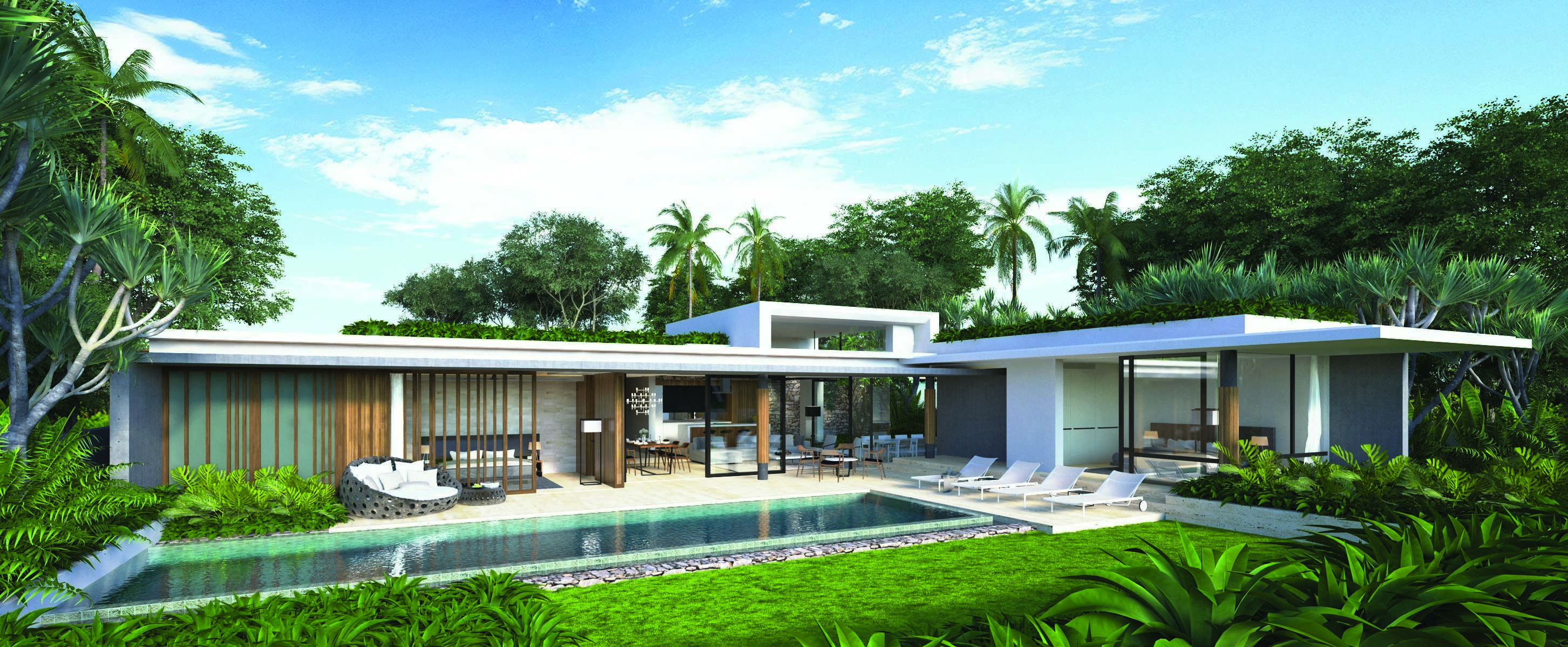 The pool villas at Sunplay Bangsaray