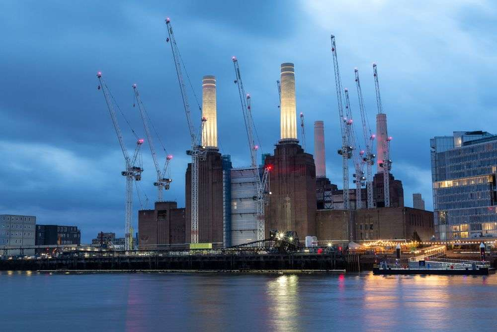Battersea Power Station undergoing renovation in December 2017. The project is part of the Nine Elms area in London. David Harmantas/Shutterstock