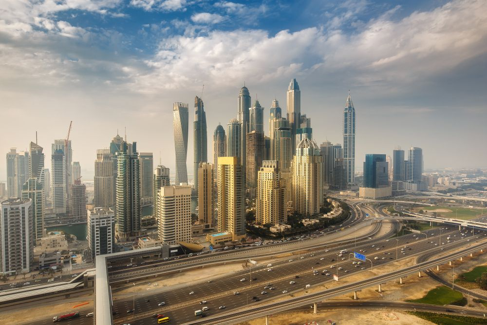 Panoramic view of Dubai, UAE. Funny Solution Studio/Shutterstock