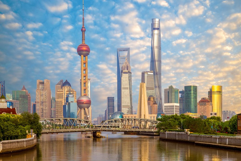 Skyline of Pudong, Shanghai, China. Richie Chan/Shutterstock