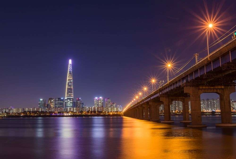 The skyline of Seoul from the Han River. khomsan th/Shutterstock
