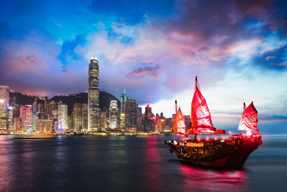 Victoria Harbour in Hong Kong. Patrick Foto/Shutterstock