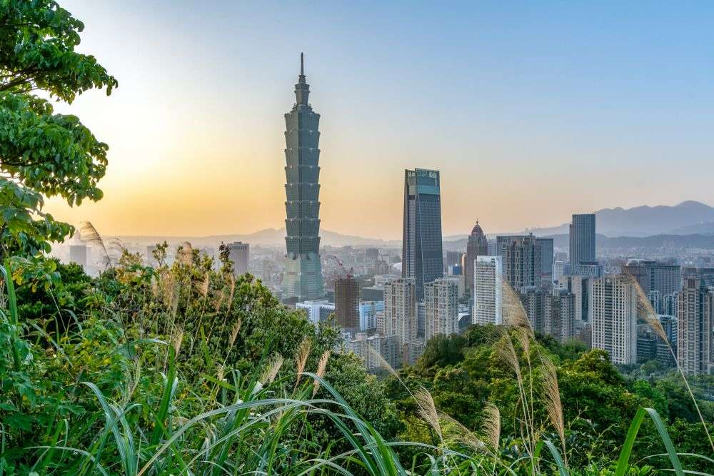 Panoramic view of Taipei, capital of Taiwan, during sunset. shotarobkk/Shutterstock