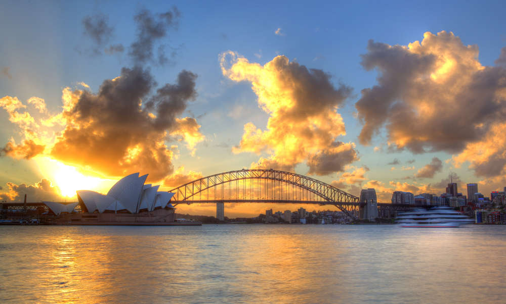 Sydney Harbour with Opera House and Bridge. Semisatch/Shutterstock