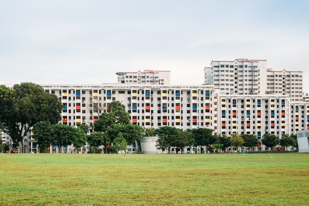Colourful HDB buildings in Singapore. ZDL/Shutterstock