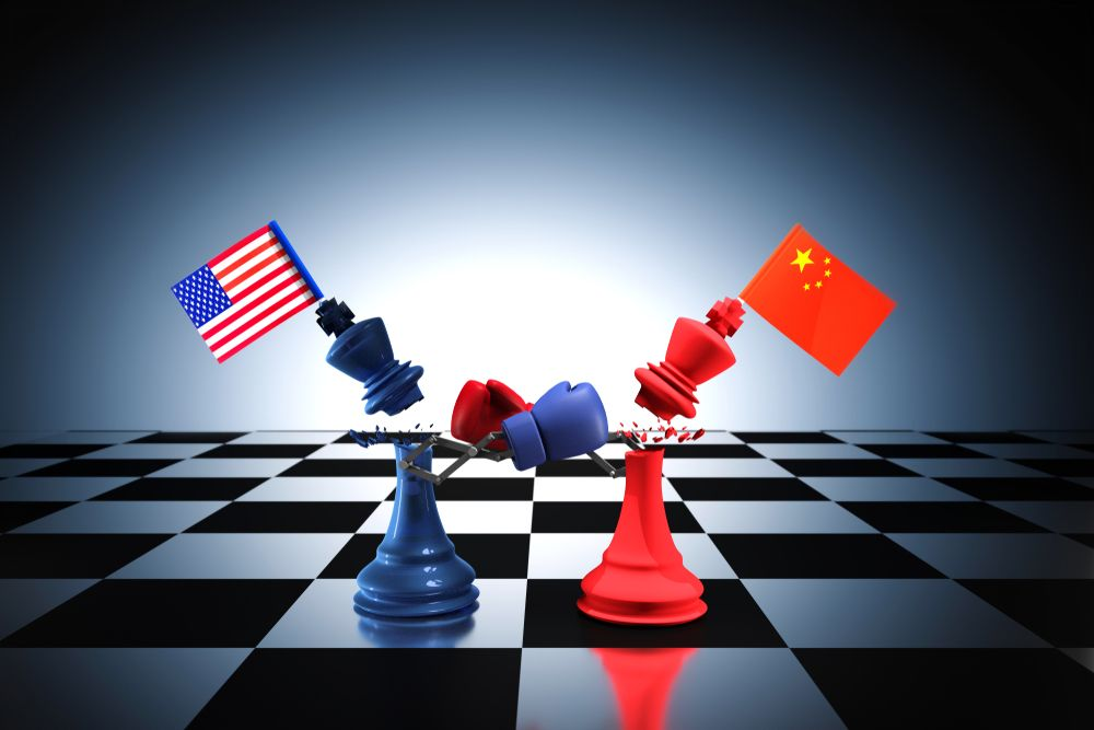The US-China trade dispute represents a key risk to global economic outlook. ittoilmatar/Shutterstock