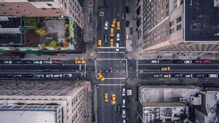 Fifth Avenue, New York City as seen from above. Stephan Guarch/Shutterstock