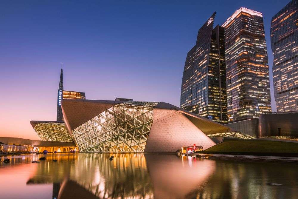 Guangzhou Opera House at night. GuoZhongHua/Shutterstock