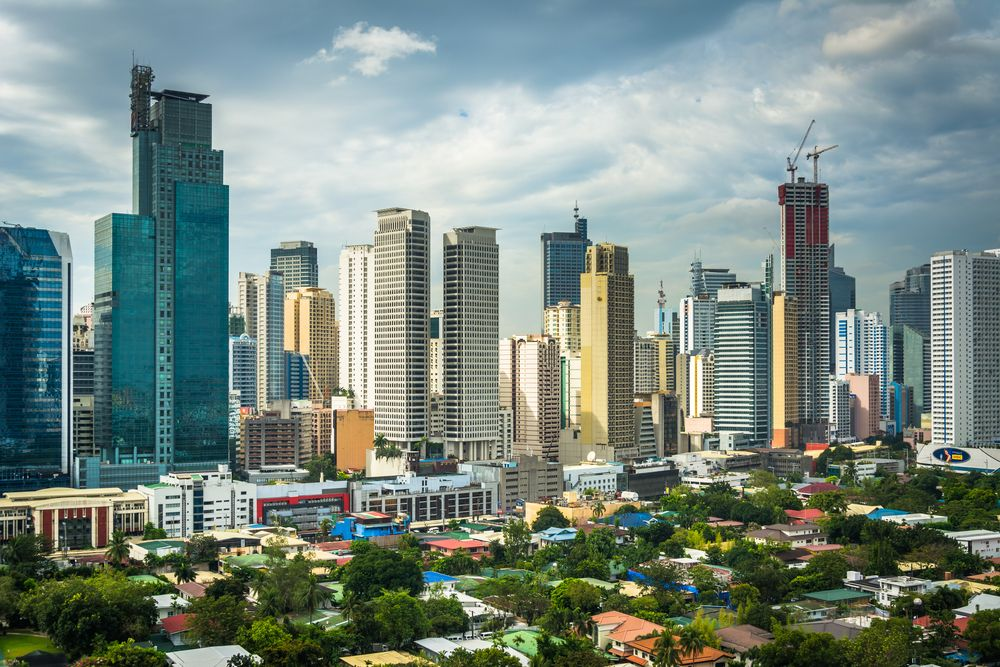 View of the skyline of Makati, Metro Manila. Jon Bilous/Shutterstock