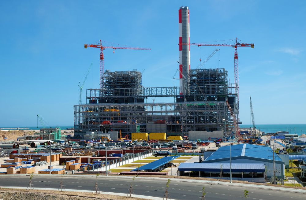 Thermal power plant build at Tuy Phong, Binh Thuan, energy project for industry at Vietnam. xuanhuongho/Shutterstock