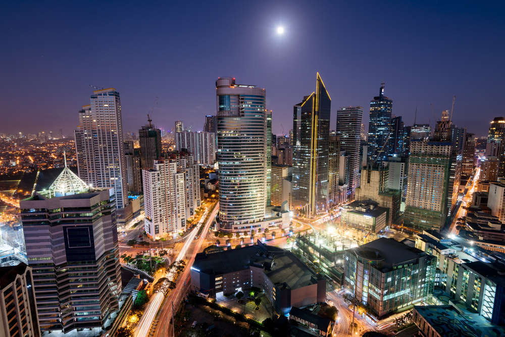 Makati, a city in Metro Manila, is home to the country's financial district and various luxury master-planned communities. r.nagy/Shutterstock