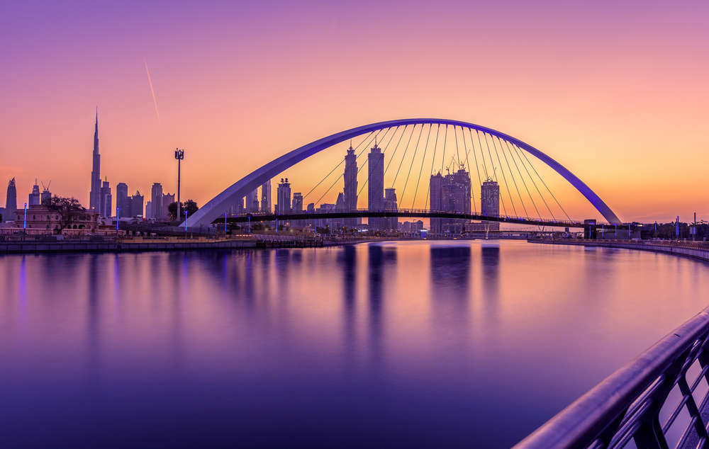 Dubai at dusk. manishoot/Shutterstock