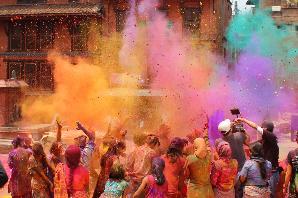 Holi celebrations in India. Kristin F. Ruhs/Shutterstock