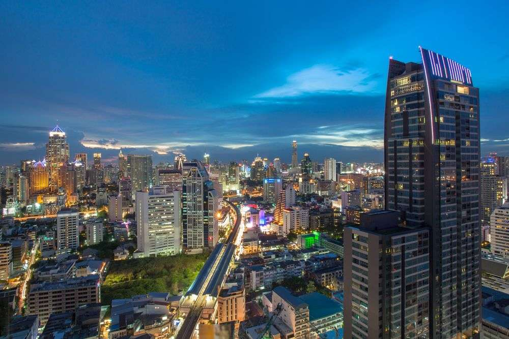 The Asoke business district in Bangkok. MOLPIX/Shutterstock