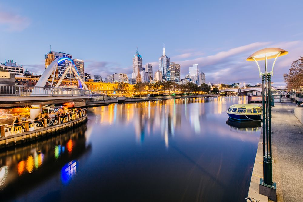 The Yarra River in Melbourne. Paper Cat/Shutterstock