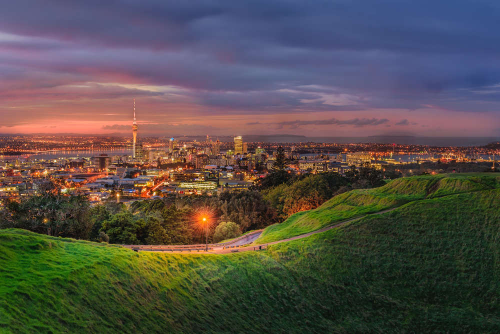 View of Auckland, NZ from Mount Eden. Natheepat Kiatpaphaphong/Shutterstock