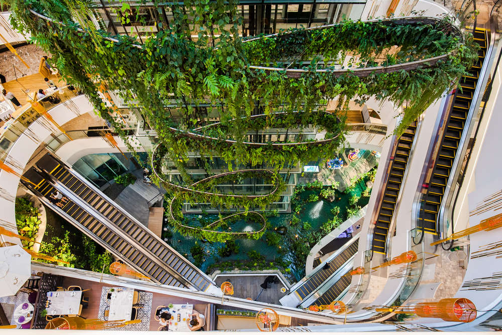 The Helix Quarter at Emquartier. Emquartier is part of the Em District, a great example of placemaking according to CBRE Thailand. MonsterBox/Shutterstock