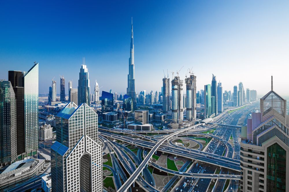 Skyline of Dubai. The emirate is home to the world's tallest building. RastoS/Shutterstock