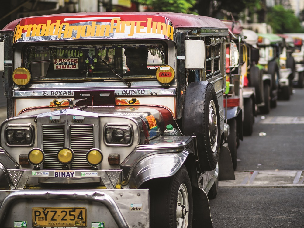 Jepneys and other vehicles currently pack the clogged streets in Filipino cities, but major infrastructural changes are afoot in the nation