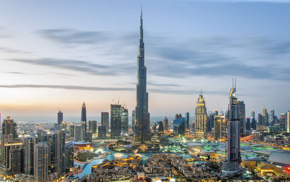 Burj Khalifa, the tallest building in the world, in downtown Dubai. Umar Shariff/Shutterstock