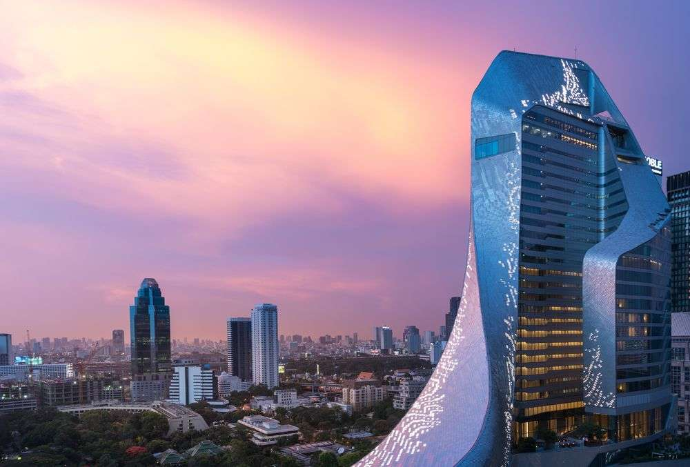 Amanda Levete's projects span the globe and include the stunning Central Embassy building in Bangkok, Thailand. Arnon Mungyodklang/Shutterstock