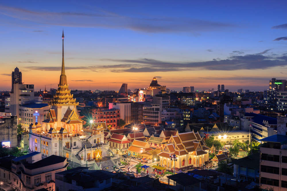 Wat Traimit Witthayaram Worawihan,Temple of the Golden Buddha in Bangkok, Thailand. Wasant/Shutterstock
