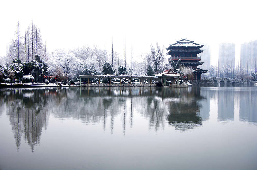 Winter at Xiaoyao Park in Hefei, Anhui. HelloRF Zcool/Shutterstock