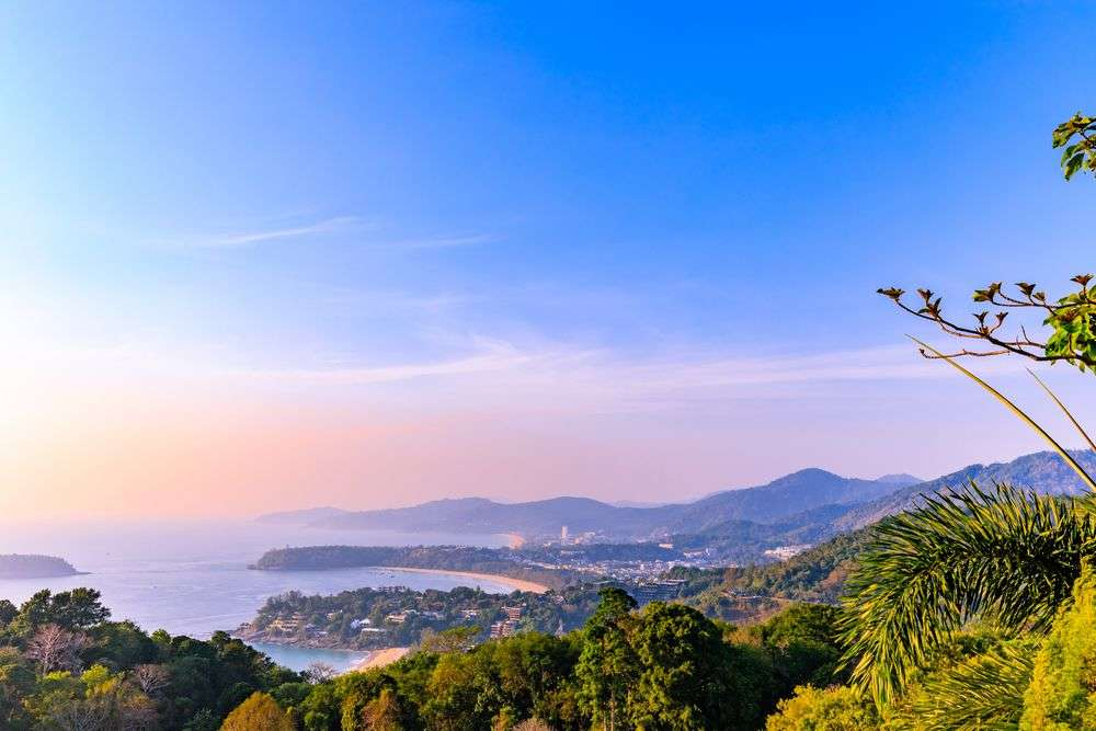 A view of Phuket's beaches from Karon Viewpoint. Marco Borghini/Shutterstock
