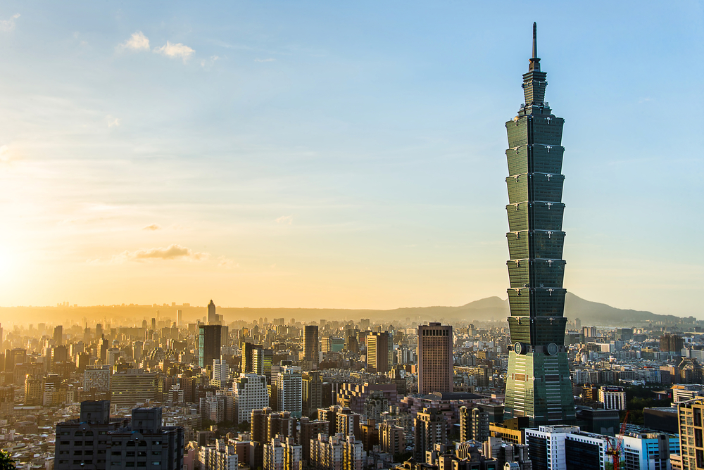 Taipei World Financial Center is a landmark in Asia, ranked the world's tallest building from 2004 until 2010. kikujungboy/Shutterstock