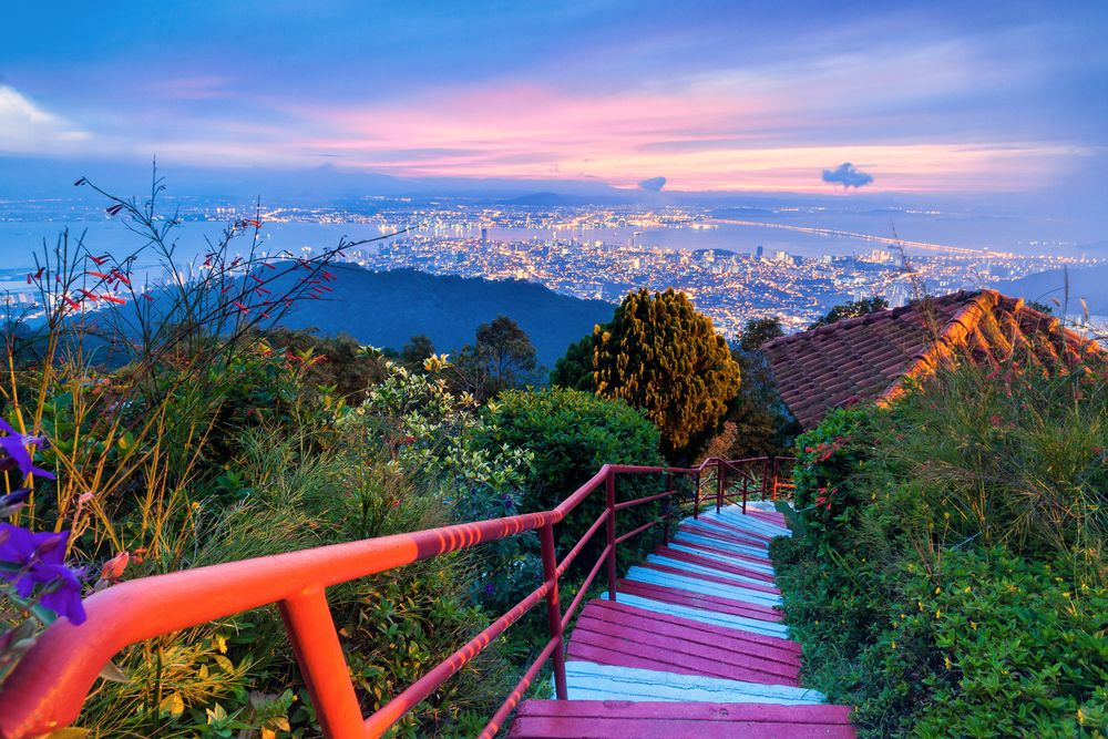 George Town as viewed Penang Hill at dawn. KeongDaGreat/Shutterstock