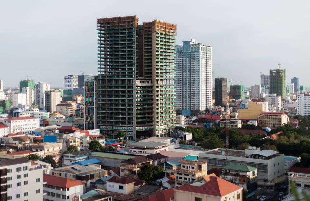 Developing skyline of Phnom Penh, Cambodia. Tlapy007/Shutterstock