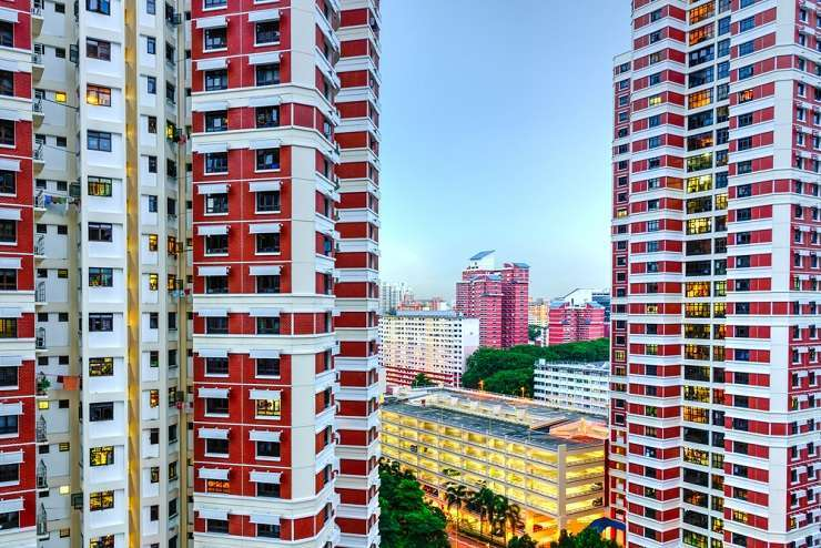 Colorful apartments in Singapore's Redhill neighborhood. Trong Nguyen/Shutterstock
